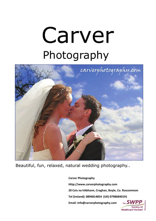 Carver Photography Brochure
