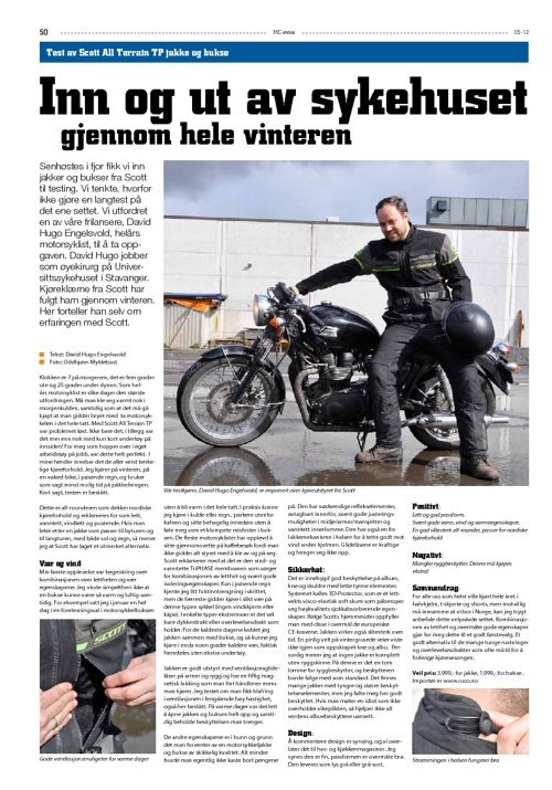 Scott All Terrain Kjørebekledning Test i MC Avisa