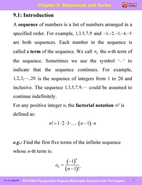 Cp9_Sequences and Series