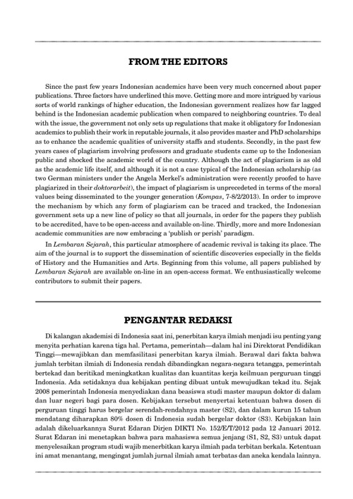 Lembaran Sejarah Vol. 9, No. 2, Oktober 2012