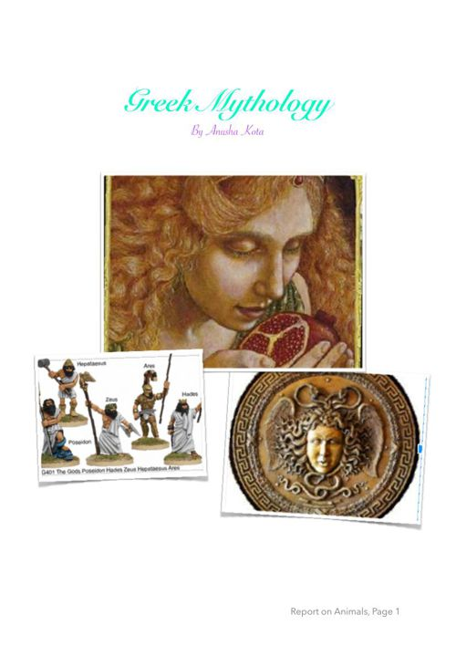 Greek Mythology Anusha