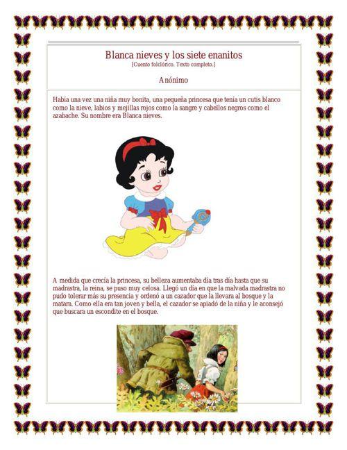 Blancanieves y los siete enanitos BLANCA Y YULY CAMACHO