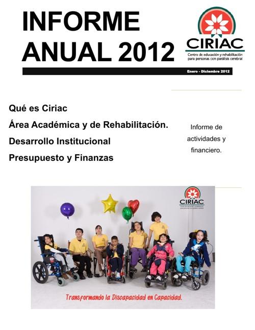 CIRIAC INFORME ANUAL 2012