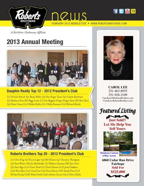 Carol's February Newsletter