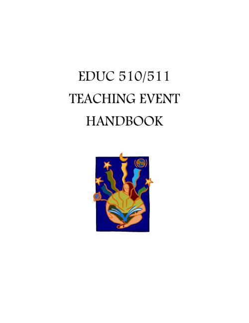 EDUC 510/511 Handbook - 2012 version