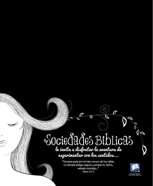 Invitacion Cena a Oscuras de Sociedad Bíblica Costa Rica