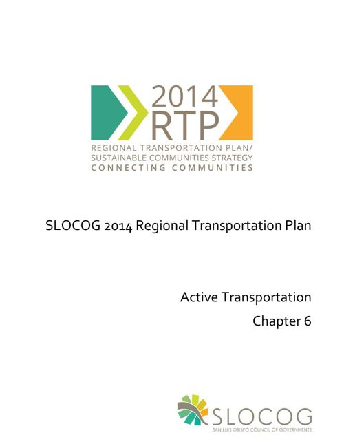 SLOCOG ActiveTransportation 2014 RTP Chapter