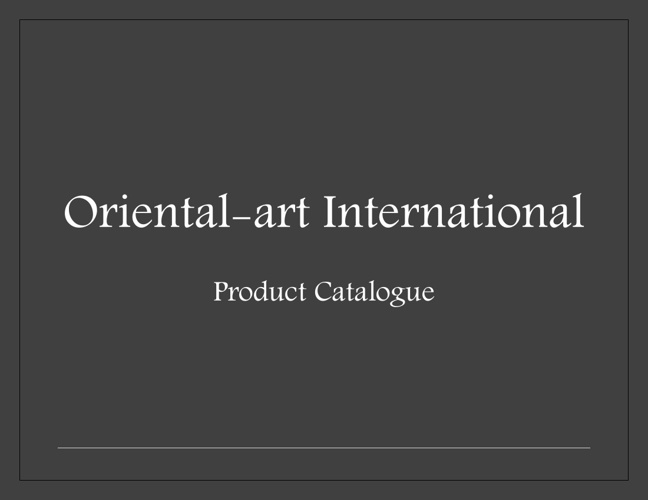 Oriental-art International Product Catalogue