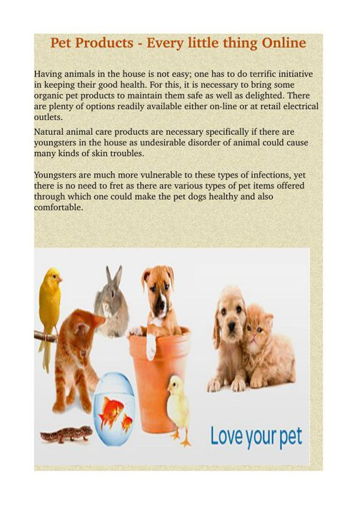 Pet Products - Every little thing Online