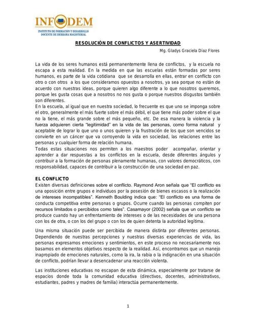 LUNES 16 jun  Resolución de confictos Asertividad