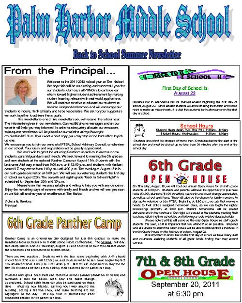 PHMS 2011 Summer Newsletter