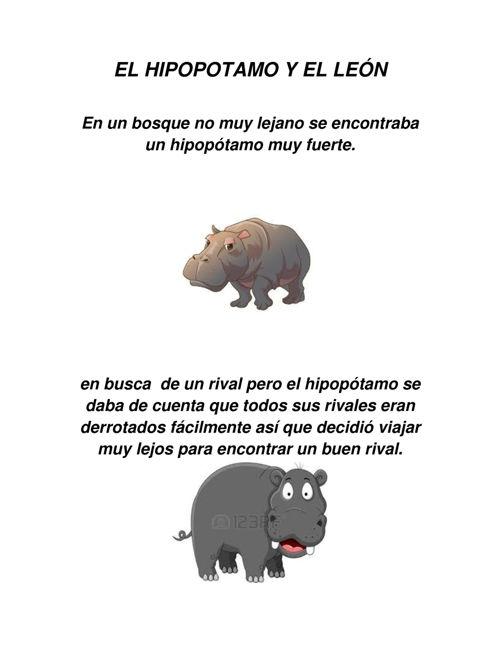 EL HIPOPOTAMO Y EL LEÓN