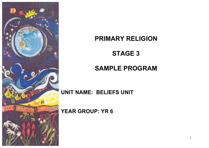 Yr 6 Beliefs Trial Unit