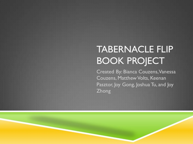 Tabernacle Flip Book Project