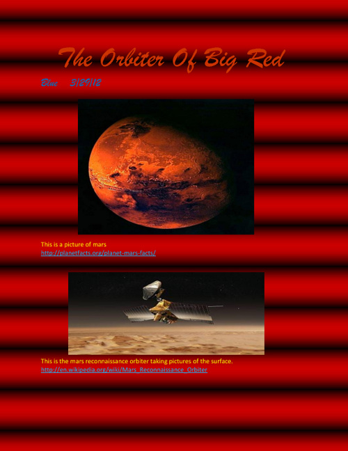 Copy of Mars The Planet Of Red