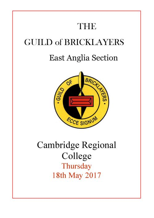 The Guild of Bricklayers 2017