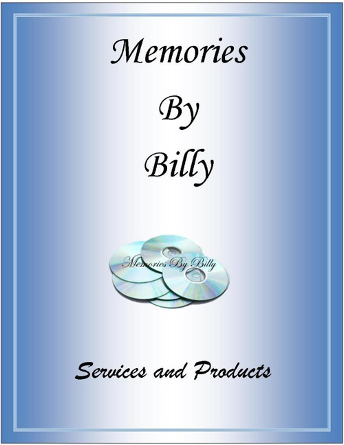Memories By Billy Catalog