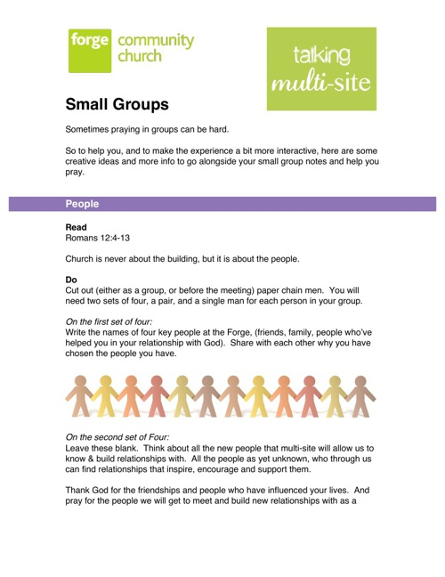 Forge Multisite Small Groups