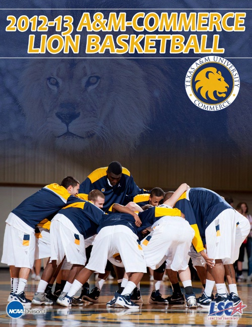 2012-13 A&M-Commerce Men's Basketball Yearbook