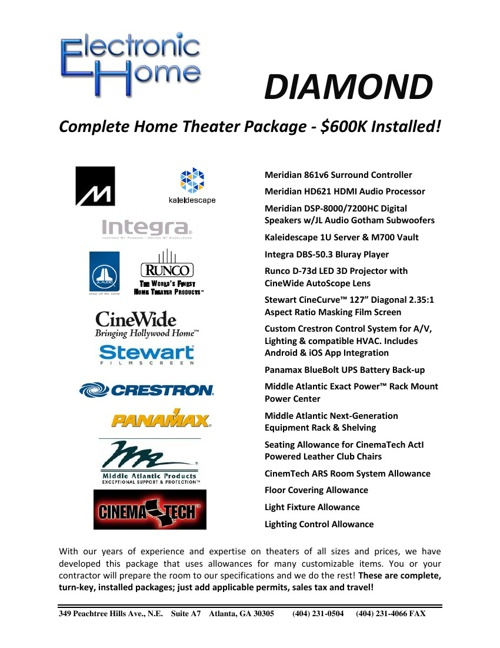 EH Diamond Theater Package