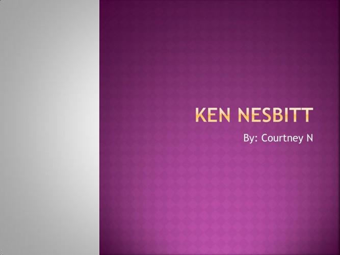 Ken Nesbitt