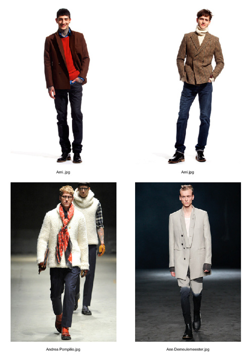 Fall 2012 Mens Double-Breasted Clothing