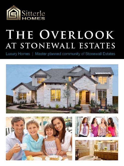 Sitterle Homes Stonewall Estates Brochure