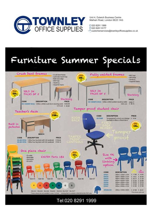 Towny Office Supplies - Summer Furniture Details