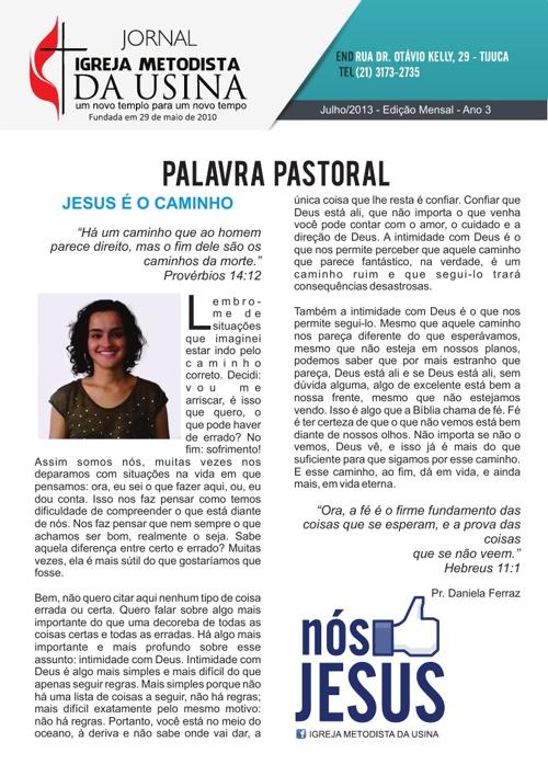 Jornal Metodista da Usina - Julho de 2013