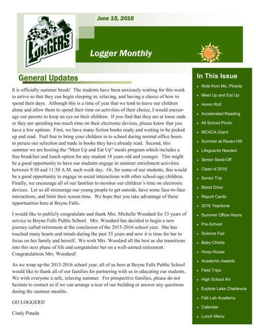 June 15, 2016 Logger Monthly