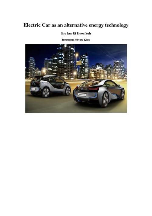 Energy Technology Infobook BY IAN KI HOON SUH