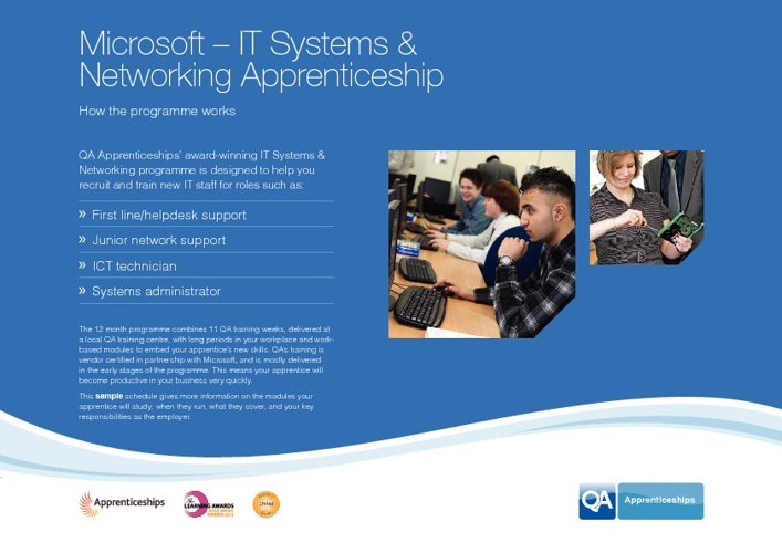 Microsoft - IT Systems & Networking - QA Apprenticeships