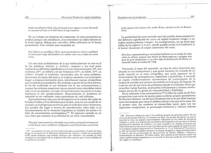 PRÉSTAMO/ CALCO Y TRADUCCIÓN LITERAL. TOMO II