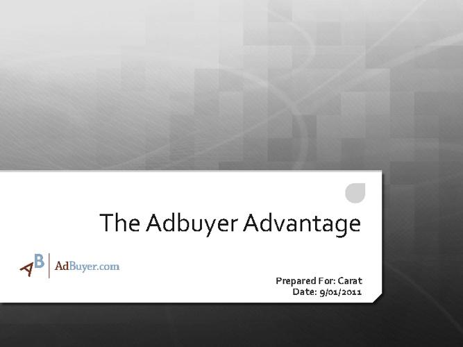 AdBuyer Presentation
