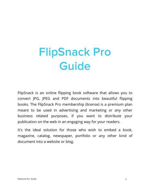 Manual de Flipsnack