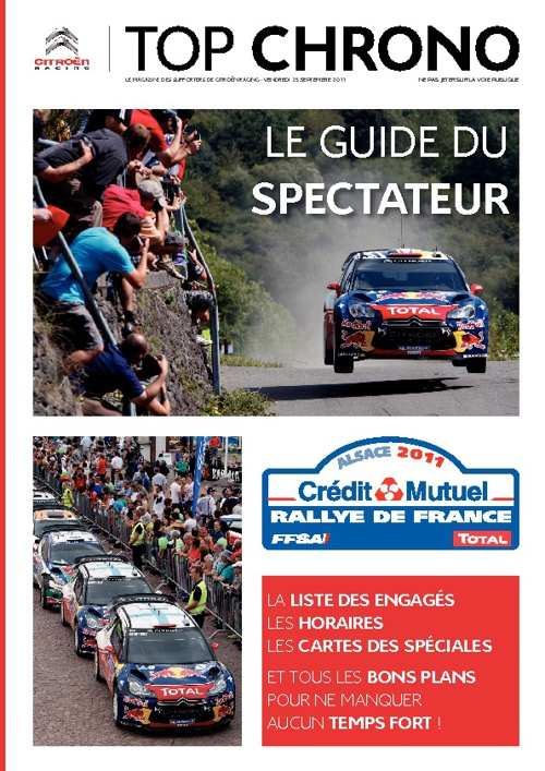 Citroën Racing - Guide du spectateur Rallye de France 2011