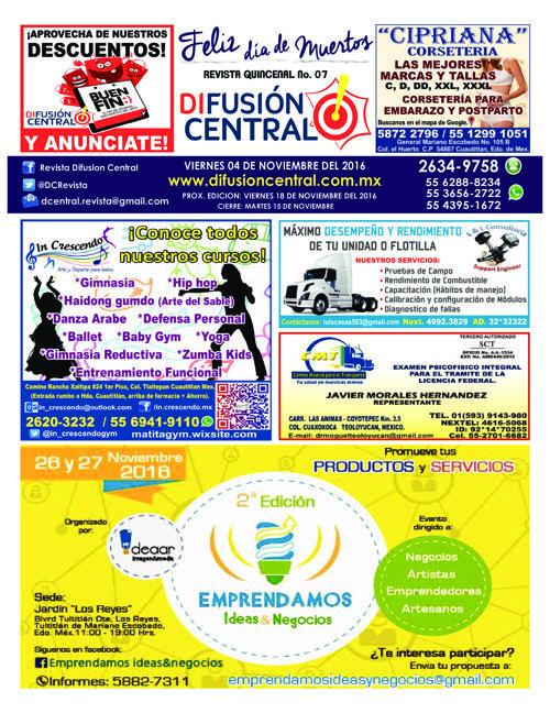 DIFUSION CENTRAL EDIC. 07