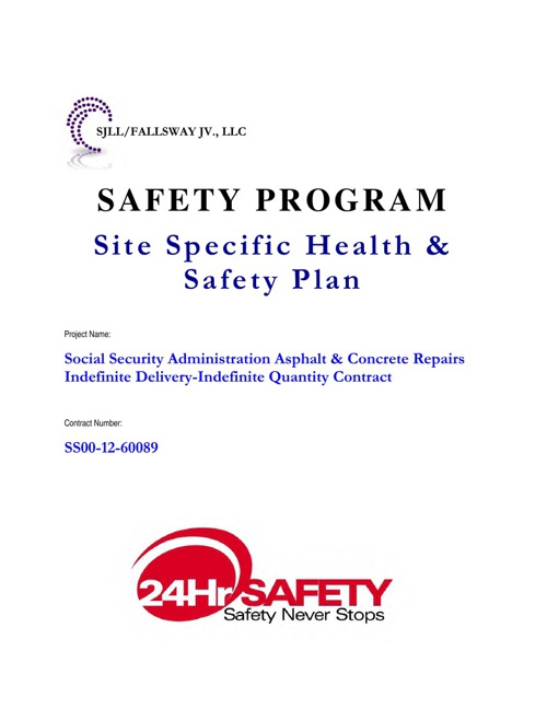 SSA Safety and Health Plans