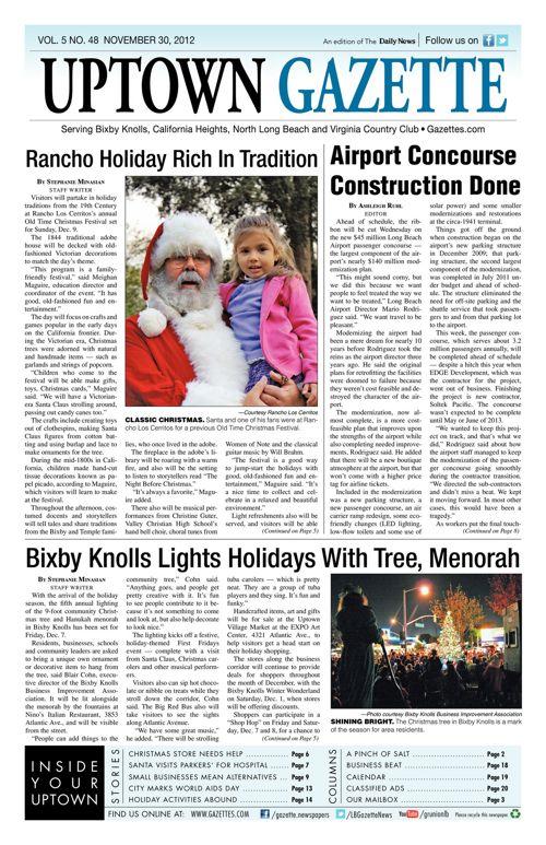Uptown Gazette     November 30, 2012