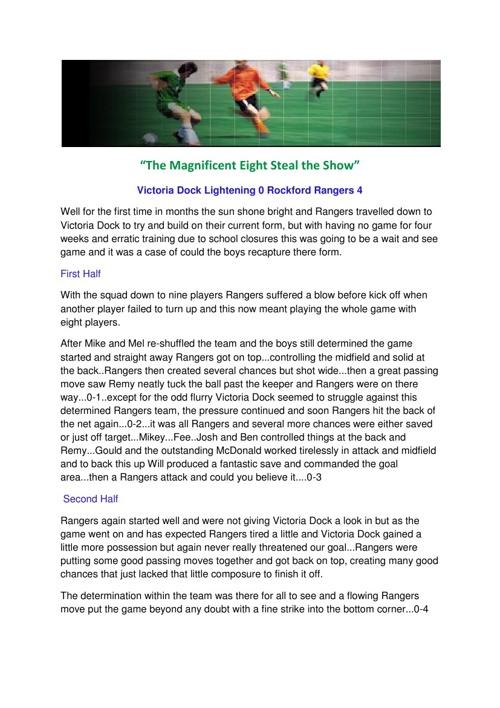 Copy of Match Report Rangers U11s