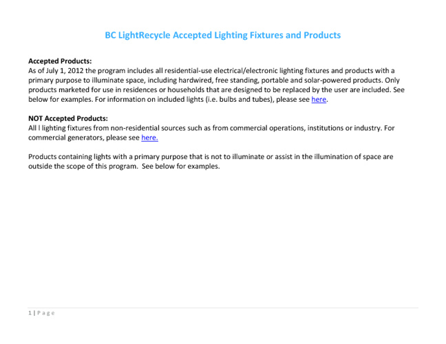 LightRecycle (ProductCare)