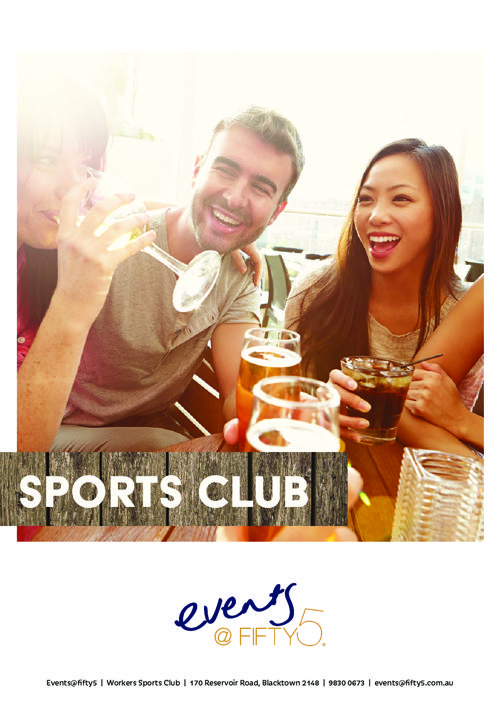SPORTS CLUB EVENT PACKAGE