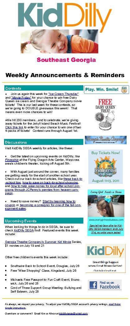 SEGA Newsletters July 2011