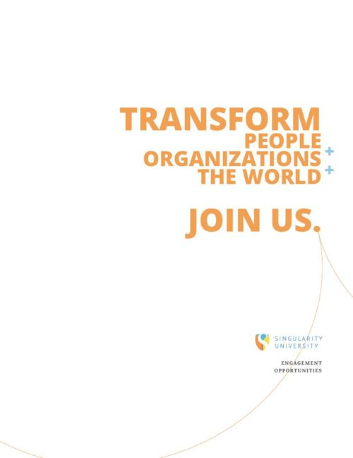 Singularity University Engagement Opportunities