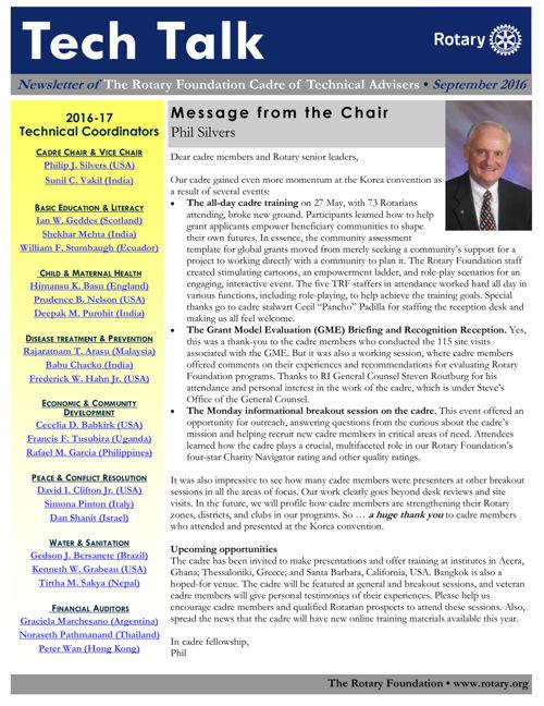 Tech Talk September 2016