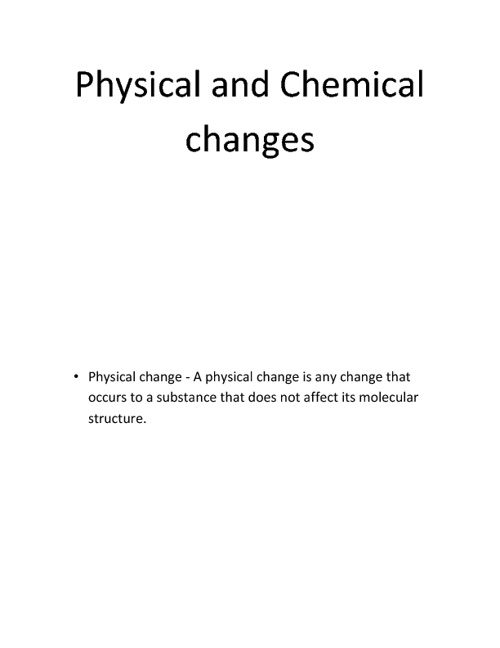 Physical and Chemical Changes - Patrick Kelly