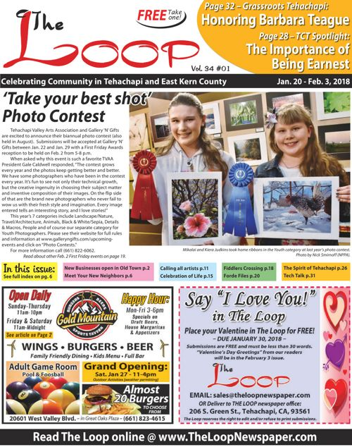 The Loop Newspaper - Vol 23 No 01 - Jan 20 to Feb 3, 2018