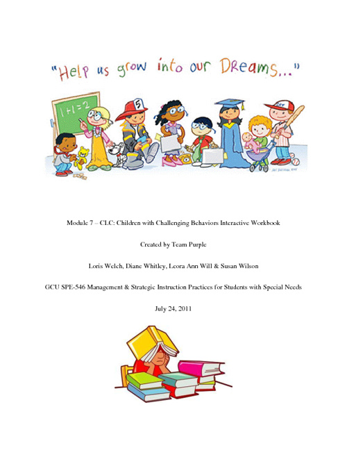 Children with Challenging Behaviors Interactive Workbook
