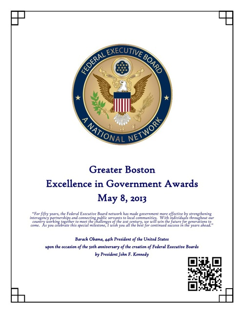 2013 GBFEB Excellence in Government Awards E-Program