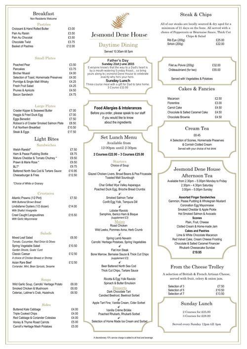Daytime Dining Menu 7.5.15